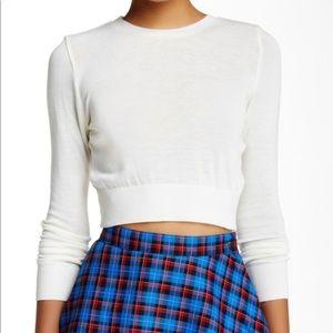 American Apparel lightweight crop sweater M